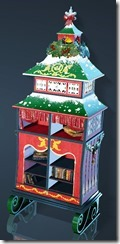 Christmas Decorated Bookshelf