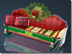 Christmas Decorated Sofa