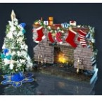 Tree and Fireplace Set