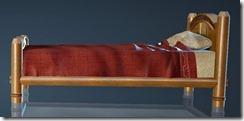 Natural Log Bed Side