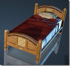 Natural Log Bed
