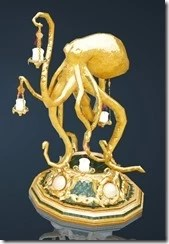 Margoria Whale Decorated Candlestand Front