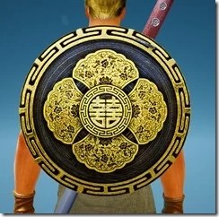 Warrior Red Robe Shield Stowed