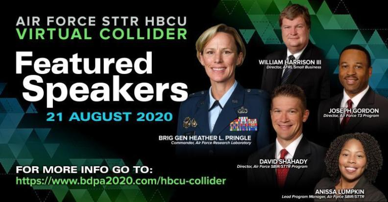 Air Force Small Business Technology Transfer (STTR) HBCU Collider. Select here to register today.