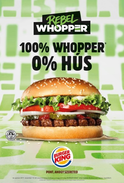 Megérkezett a BURGER KING® -be a Rebel WHOPPER®