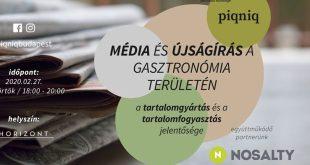 Piqniq Budapest- Média és újságírás a gasztronómia területén