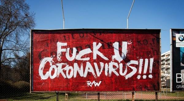 A Raw Agency óriásplakáton üzent a koronavírusnak