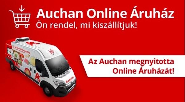Ezentúl az egész ország területén vásárolhatunk otthonról is az Auchanból