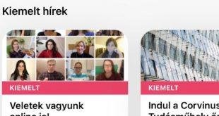 Telefonra költözik a Corvinus – hiánypótló applikációval segíti hallgatóit az egyetem
