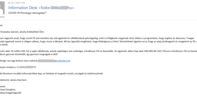 Kaspersky: Kedvező pénzügyi hitelt ígérő adathalász e-mailek Magyarországon