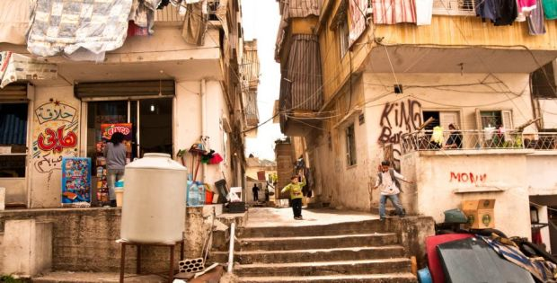 Image of Beirut refugee neighbourhood