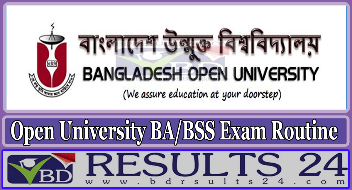 Bangladesh Open University BA BSS Exam Routine
