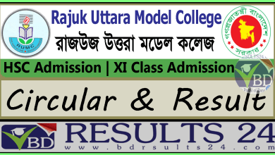 Rajuk Uttara Model College HSC Admission