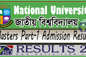 National University Masters Part-1 Admission Result