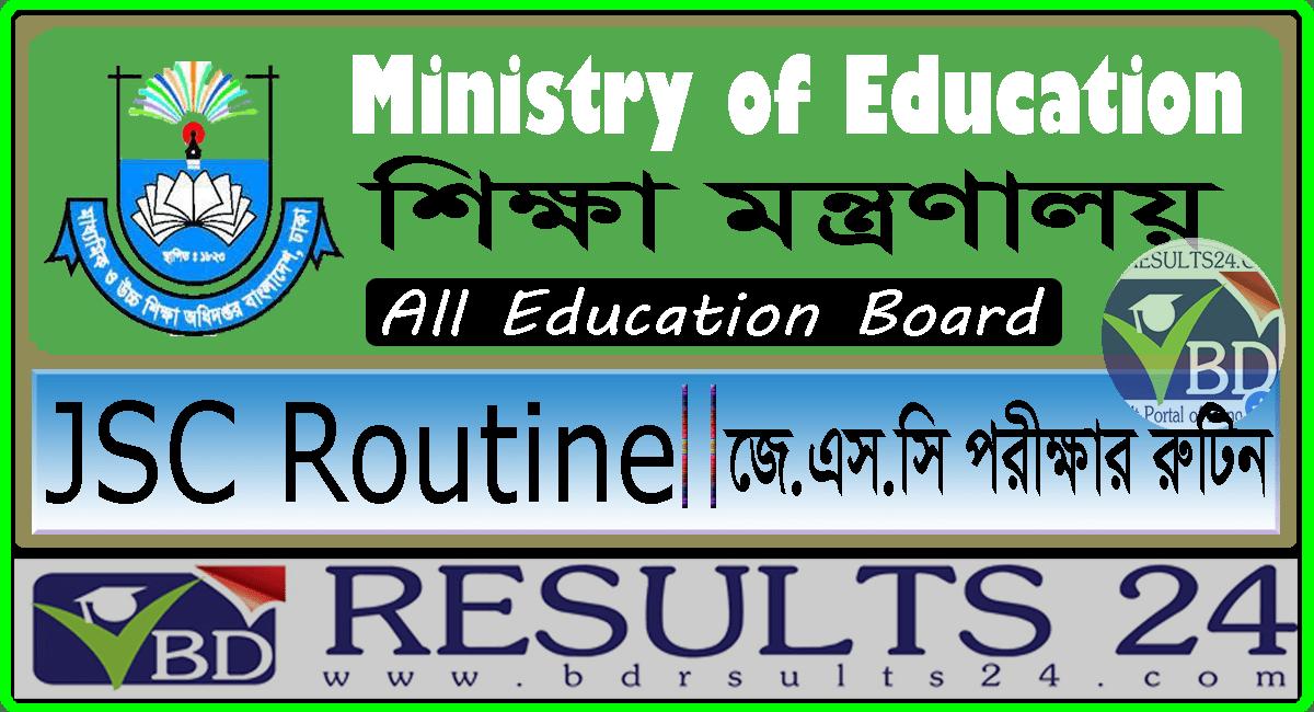 JSC Routine Bangladesh Education Board