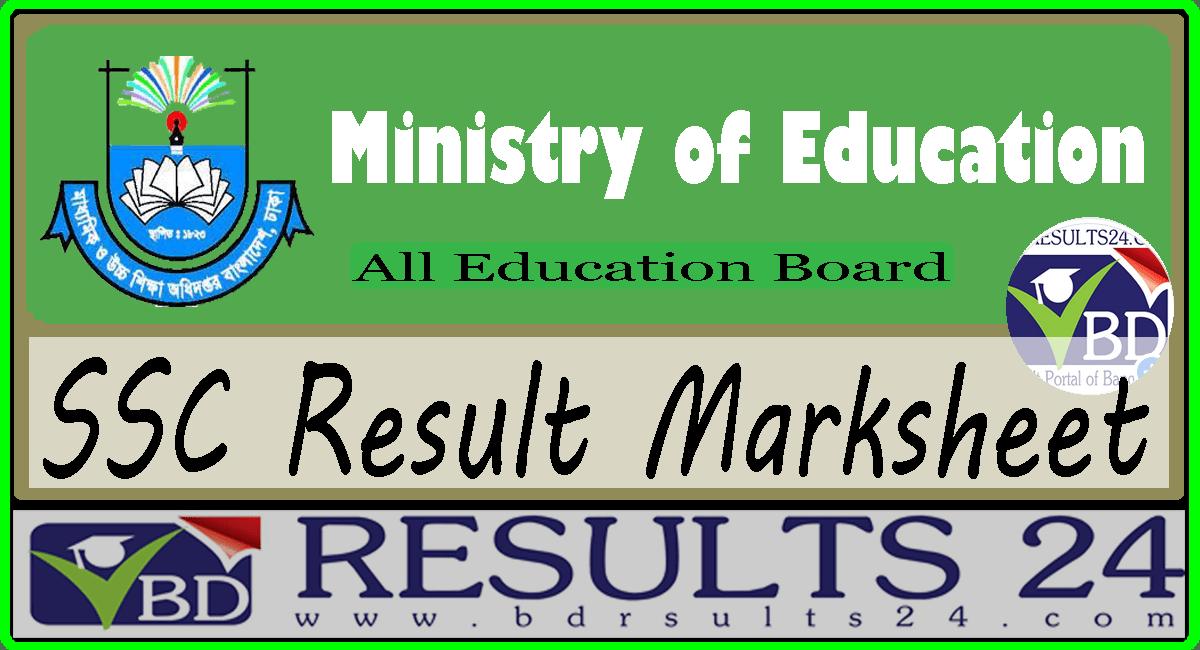 SSC Result Marksheet
