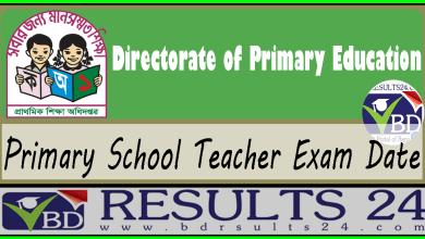 Primary School Teacher Exam Date