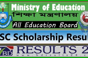 SSC Scholarship Result All Boards