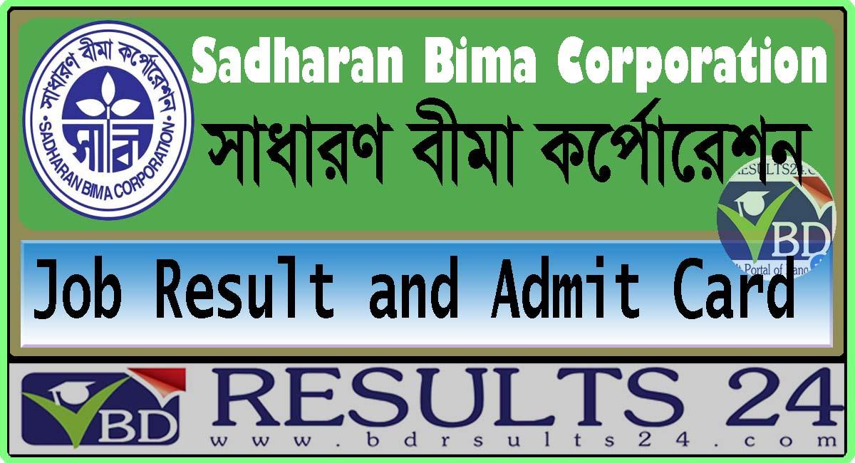 Sadharan Bima Corporation Job Result and Admit Card 2021
