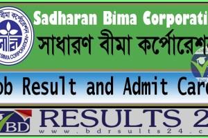 Sadharan Bima Corporation Job Result and Admit Card