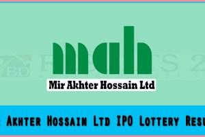 Mir Akhter Hossain Ltd IPO Lottery Result