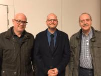 v.l. Robert Schwarz (stellv. Vorsitzender), Tom Wildensee (Landesvorsitzender) und Gisbert Sachs (Beisitzer). Foto: BDS Deutschland e.V.