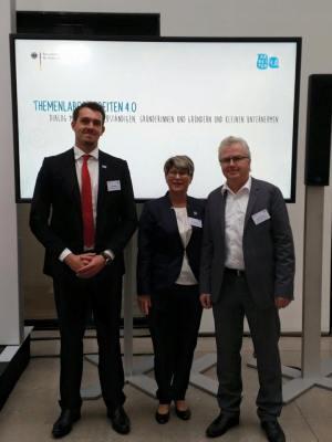 Bund der Selbständigen Deutschland: Vizepräsident Frank Bösemüller , Präsidentin Liliana Gatterer und Politik-Referent Tim Wiedemann (v.l.) engagieren sich für die Selbständigen.