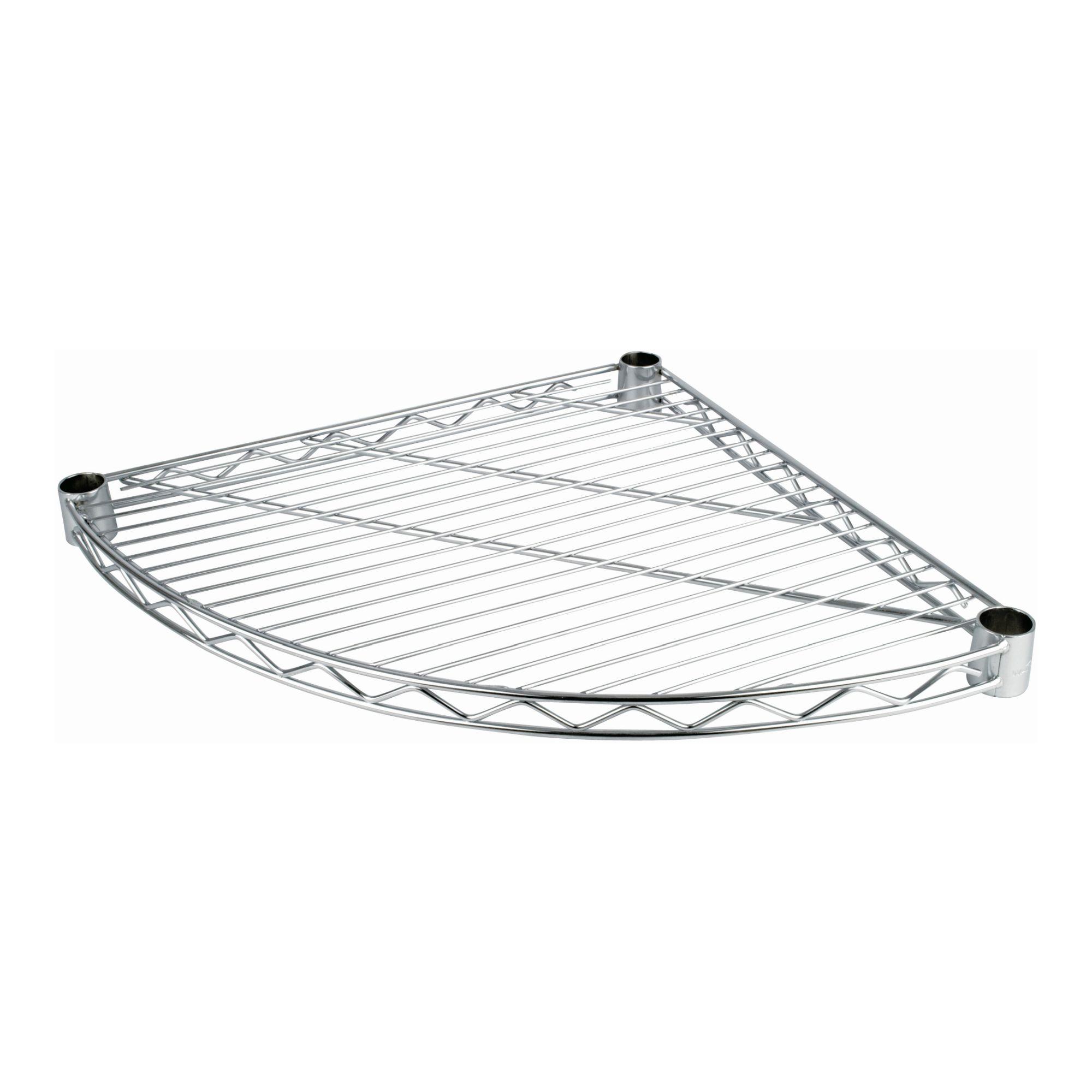 Chrome Wire Quarter Round Shelf