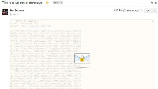 mailvelope-encrypted-message-received