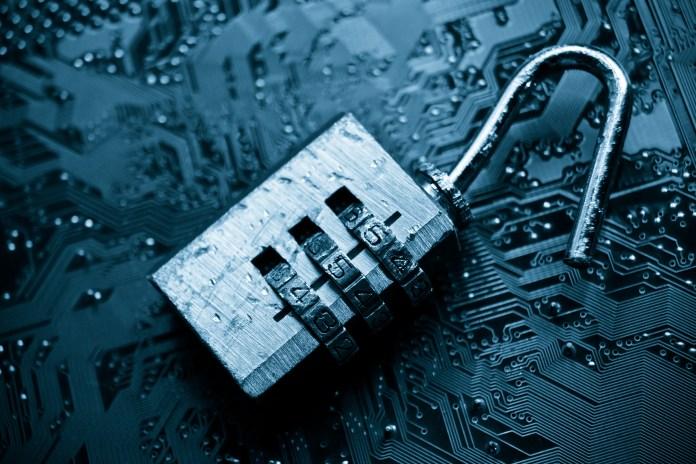 cybersecurity broken lock