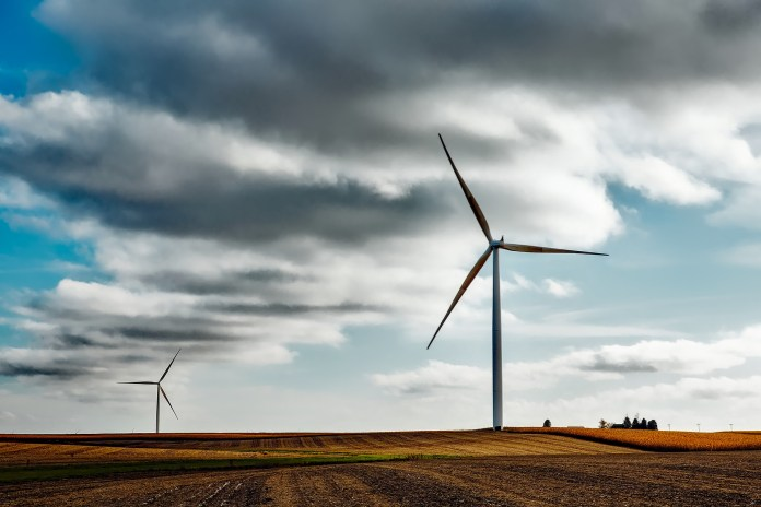 windmill in rural area