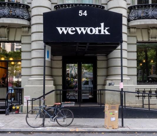 WeWork office in Manhattan