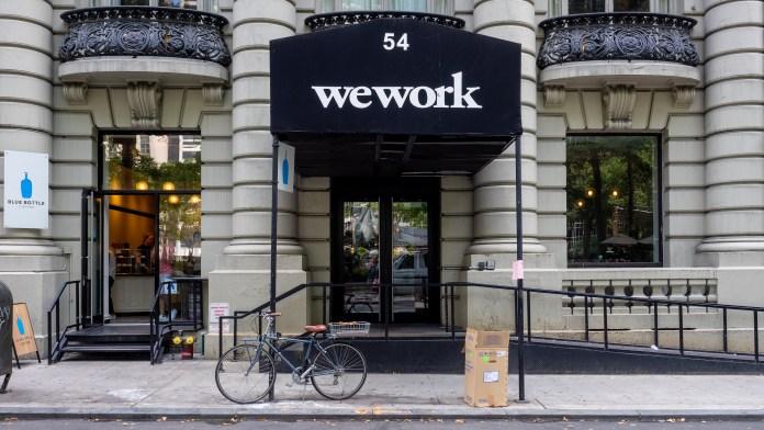 Bureau WeWork à Manhattan