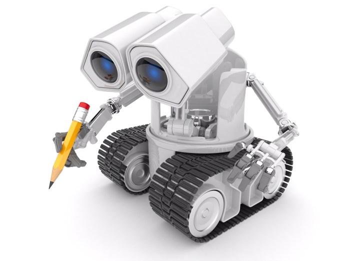 robot artificial intelligence writing