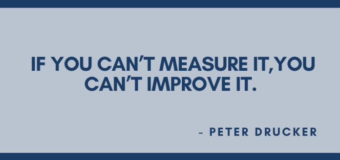If you can't measure it, you can't improve it.