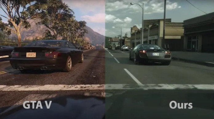 Intel AI-based photorealistic enhancement