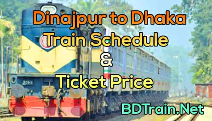 dinajpur to dhaka Train schedule