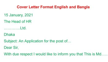 Cover Letter Format