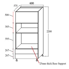 microwave and oven tower 600mm
