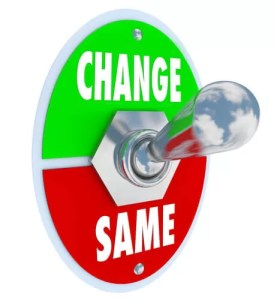To change or not to change, that is the question