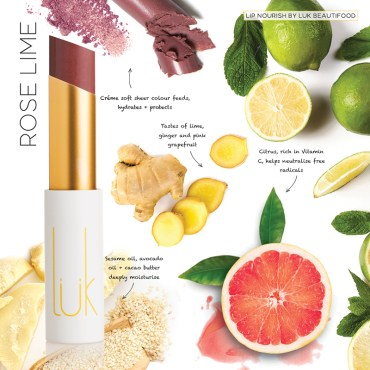 Lip Nourish Rose Lime Natural Lipstick