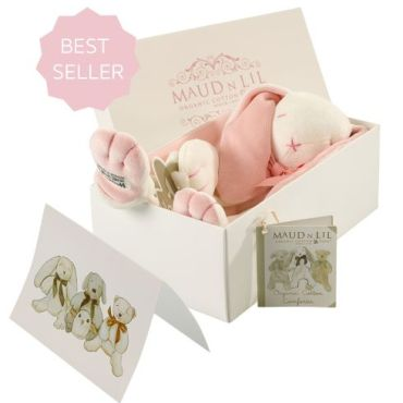 Maud 'n' Lill Soft Toy Comforter (Organic) – Rose The Bunny