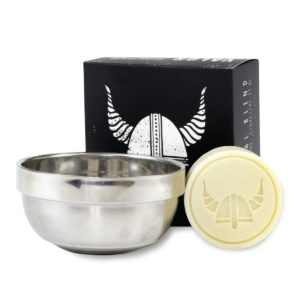 Valor Organics Shaving Soap in Stainless Steel Bowl