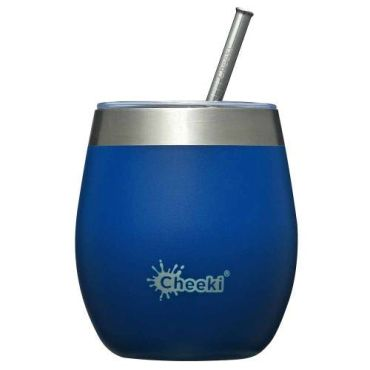 Cheeki Insulated Wine Tumbler 220ml - Sapphire Blue