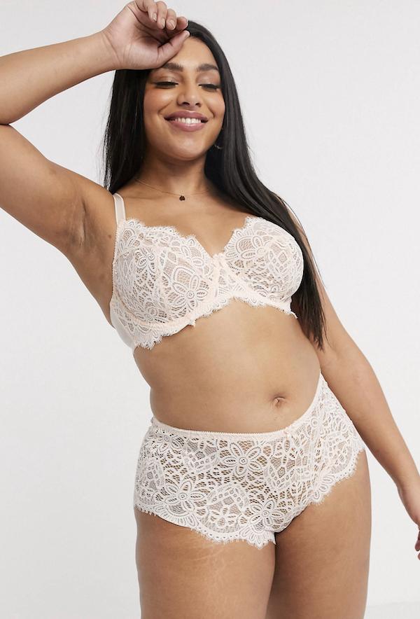 white lacy lingerie set