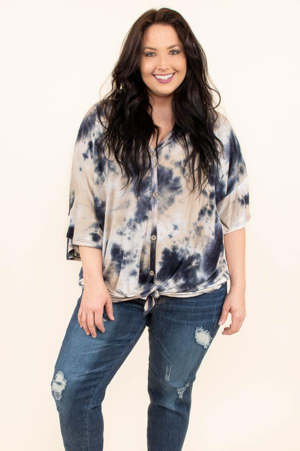 navy blue tie dye shirt