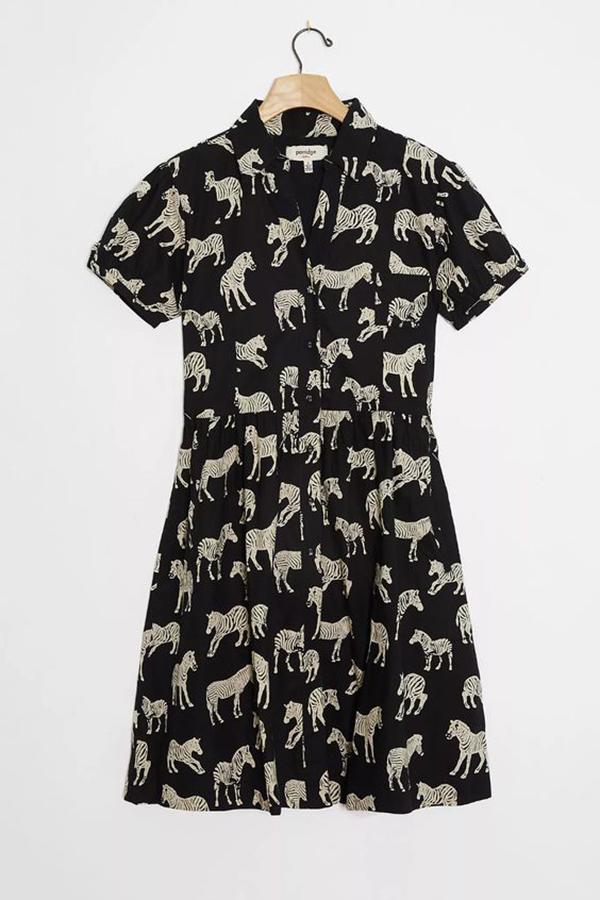 A plus-size zebra print sundress.