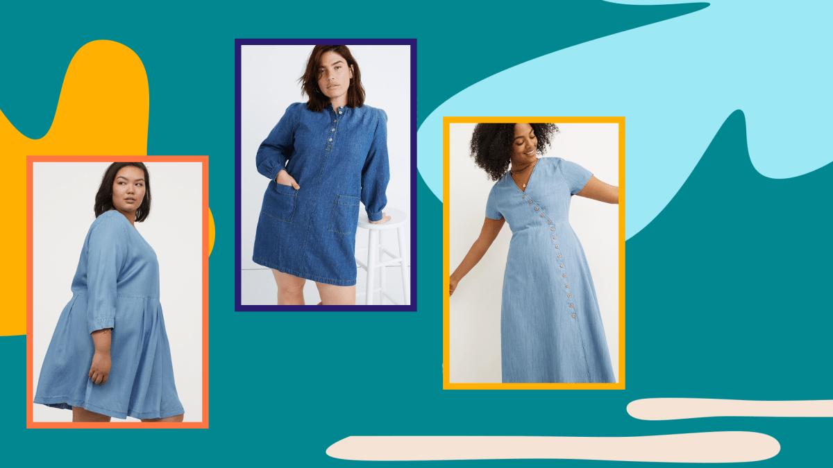 Plus-Size Denim Dresses
