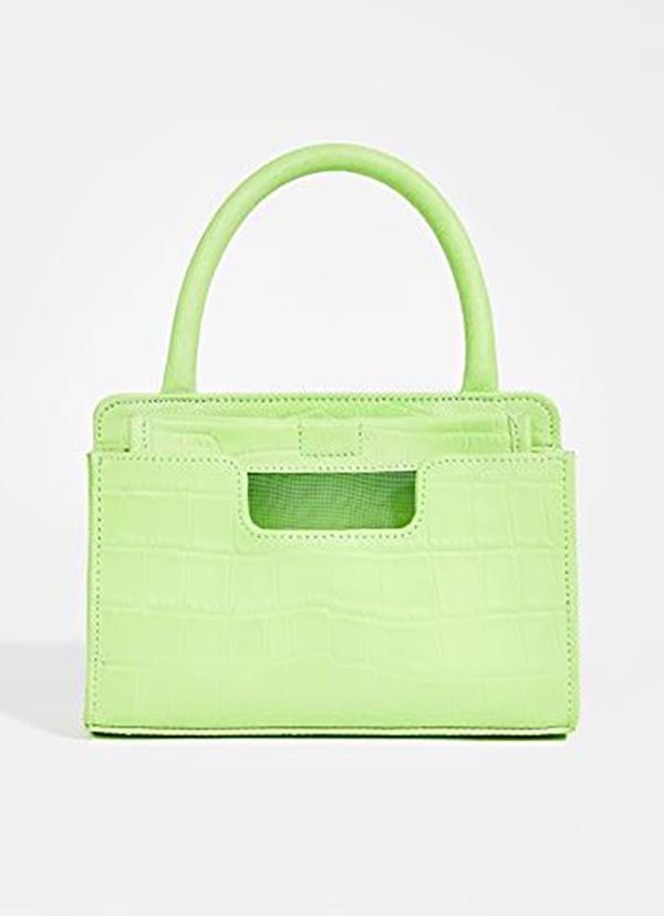 A neon yellow-green mini bag.