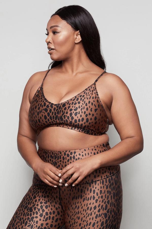 Good American Cheetah Print Bralette